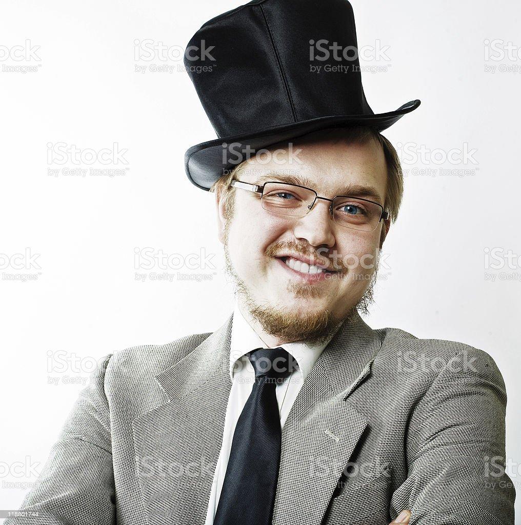 portraite de extraño hombre en gafas foto de stock libre de derechos