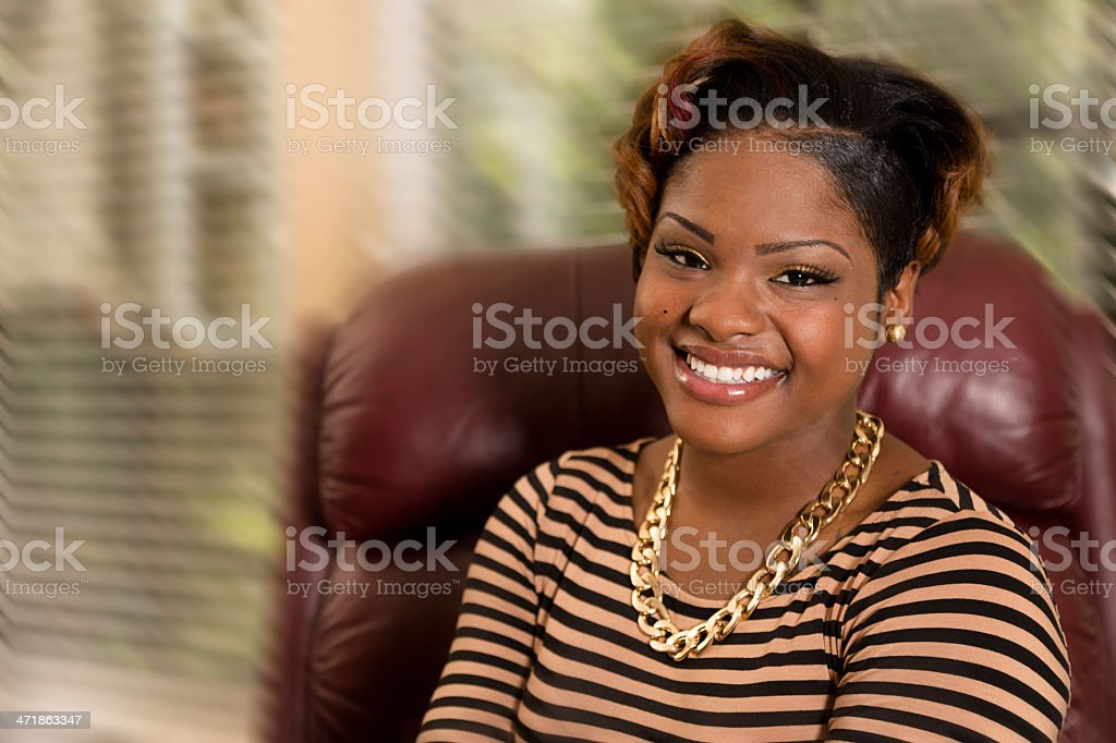 Portraits and Fashion:  Fashionable happy smiling young adult. royalty-free stock photo