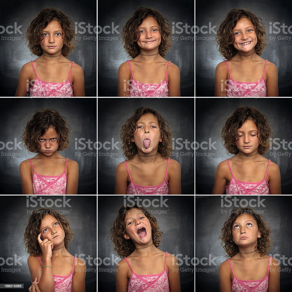 Portraits of a little girl stock photo
