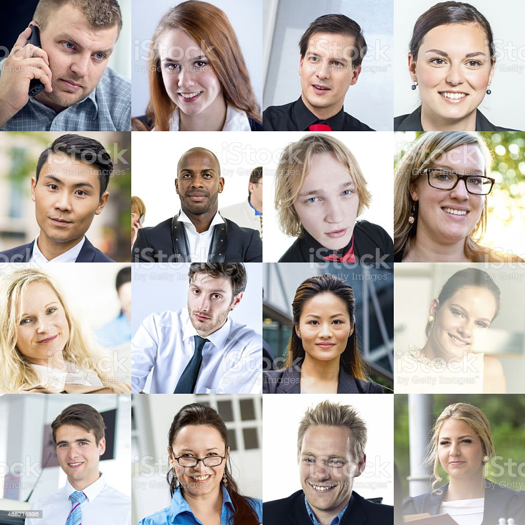 Portraits of Different Business People stock photo