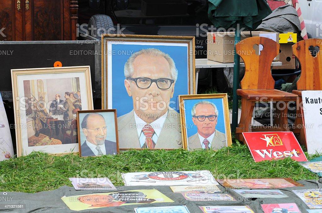 portraits of ex Socialism politicians Lenen Ulbricht and Honecker stock photo