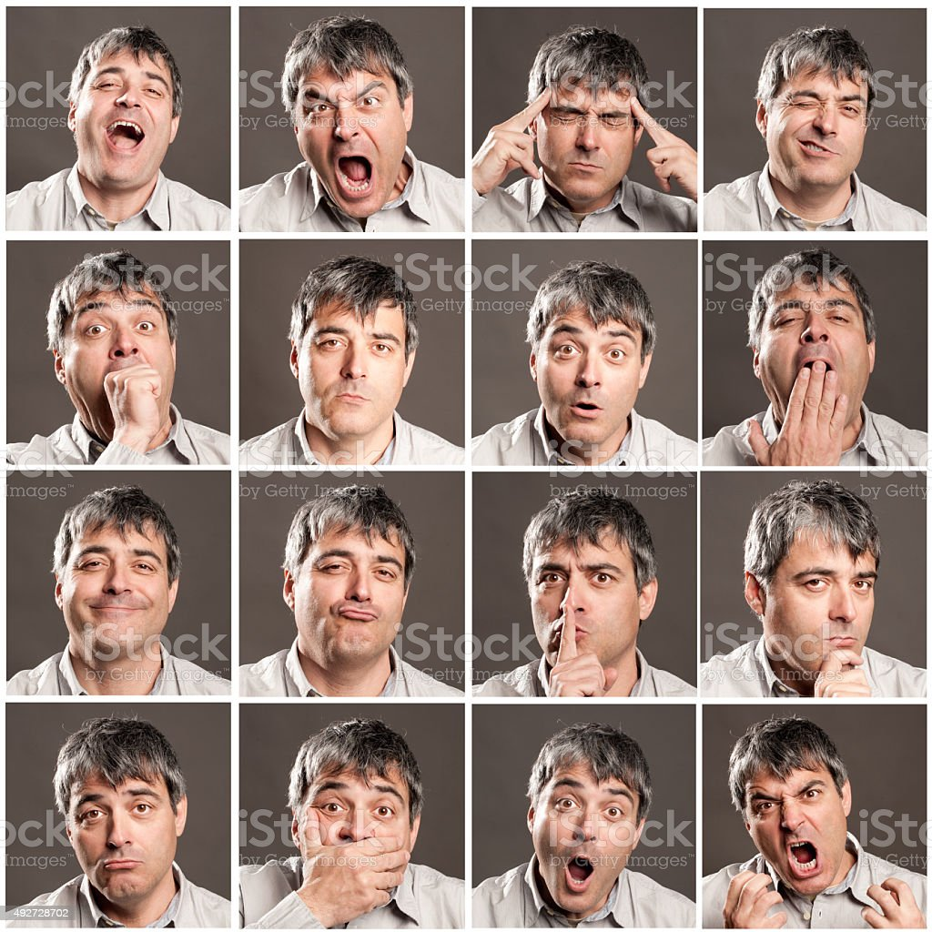 portraits of man stock photo