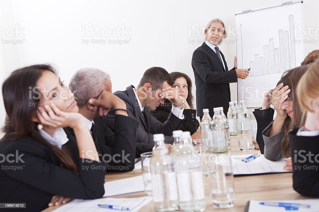 Portray of a group of disappointed business colleagues stock photo