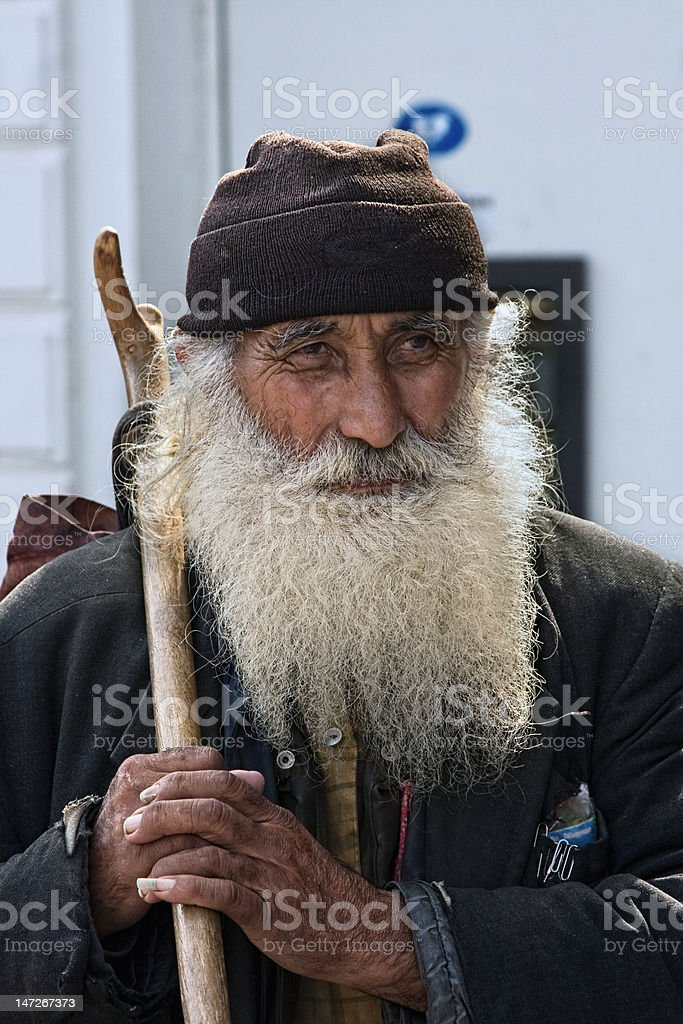 Portret of a real hermit royalty-free stock photo