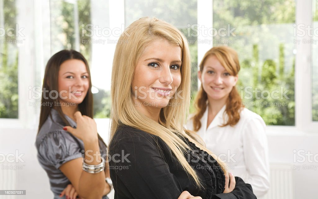 Portret of young businesswomen in the office royalty-free stock photo