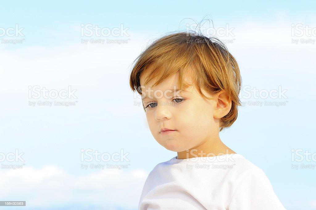 Portriat of lovely little girl royalty-free stock photo