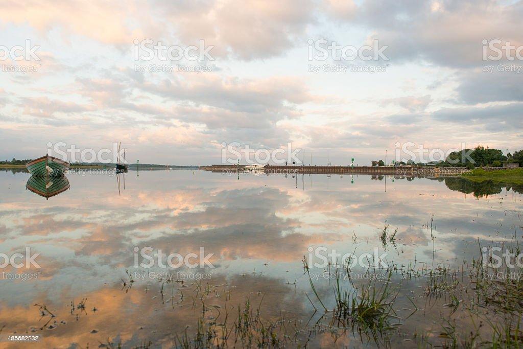Portrunny lake stock photo