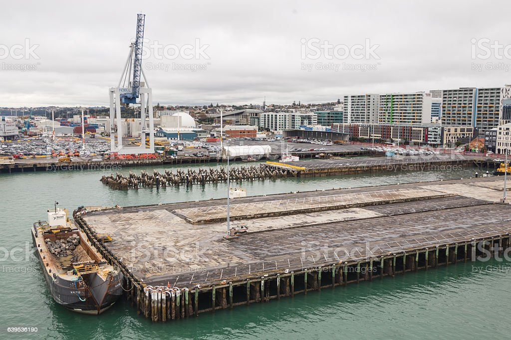 Ports of Auckland stock photo
