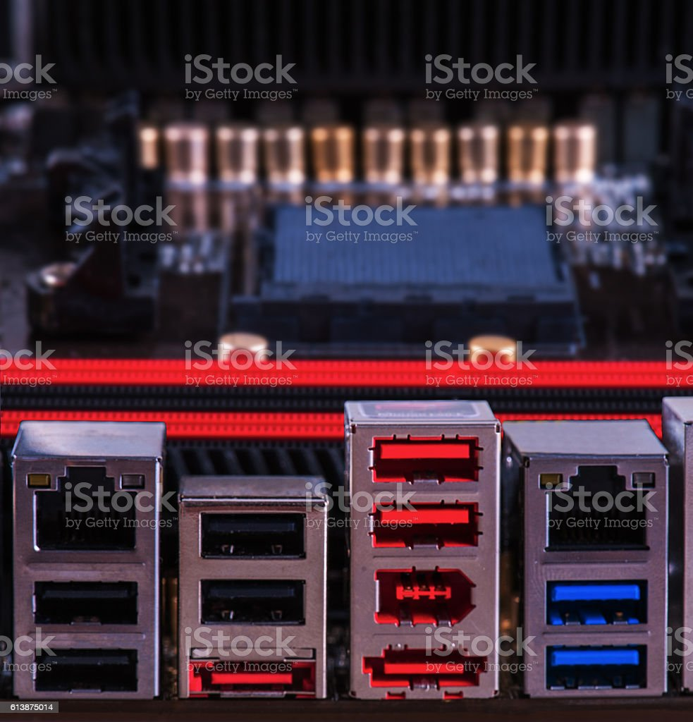 USB ports stock photo