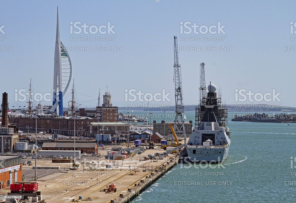 Portsmouth Dock stock photo