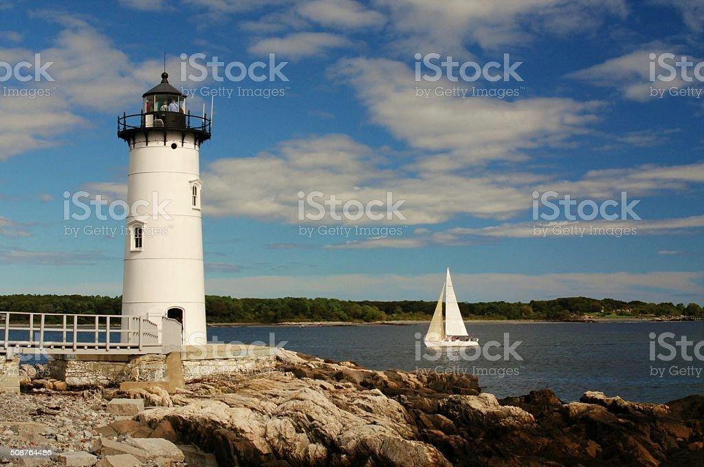 Portsmouth Harbor Lighthouse stock photo