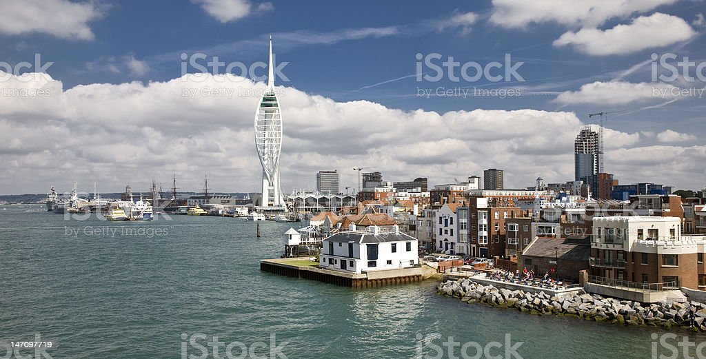 Portsmouth harbour stock photo