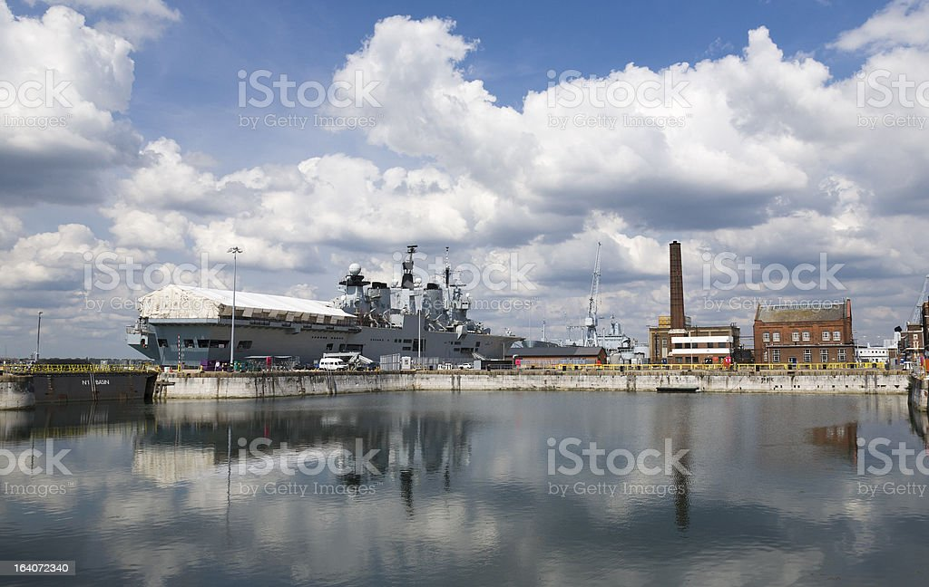 Portsmouth harbour royalty-free stock photo