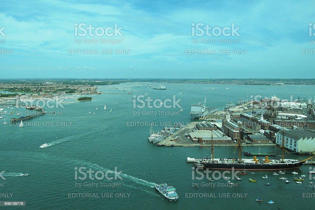 Portsmouth Historic Dockyard stock photo