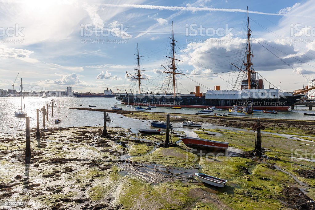 Portsmouth in summer stock photo