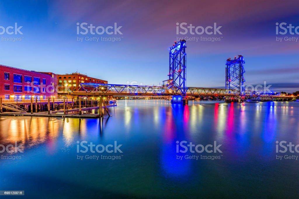 Portsmouth, New Hampshire Bridge stock photo