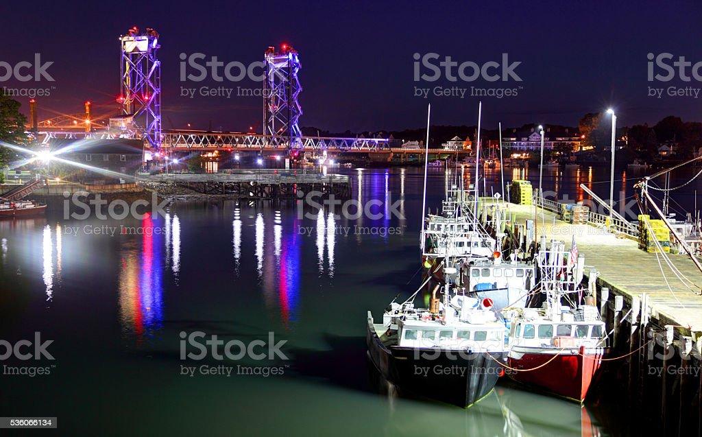 Portsmouth, New Hampshire Harbor stock photo