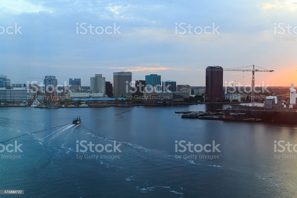 Portsmouth Norfolk Virginia Harbor stock photo