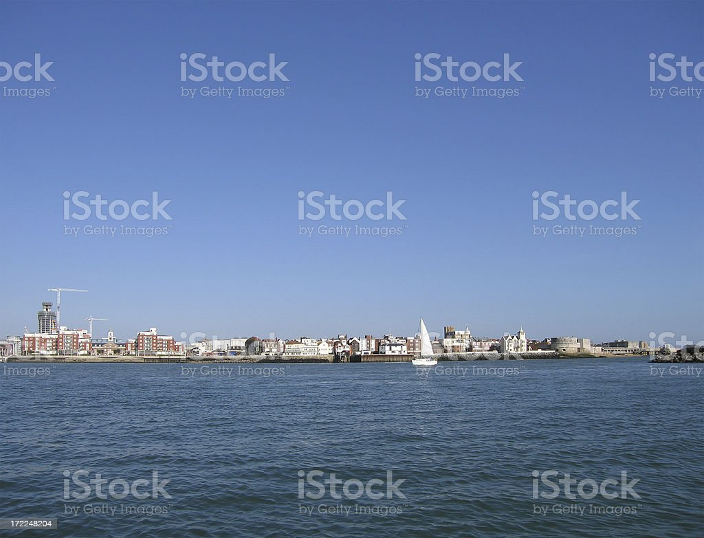 Portsmouth waterfront stock photo