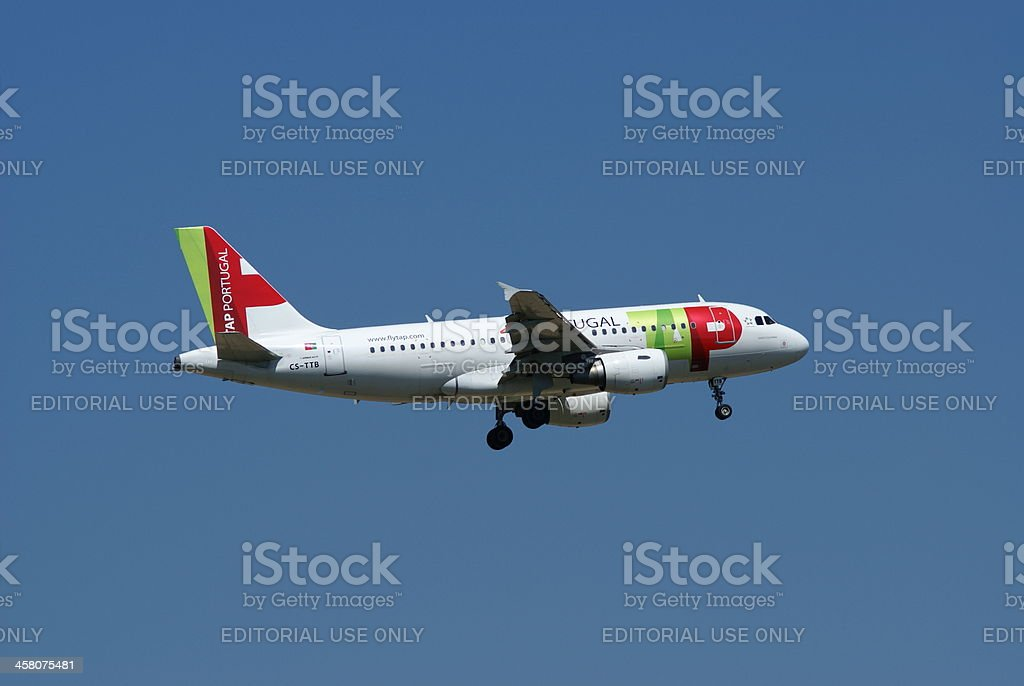 TAP Portugal, Airbus A319 royalty-free stock photo