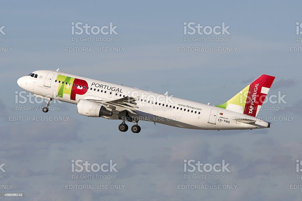 TAP Portugal Airbus A320 royalty-free stock photo