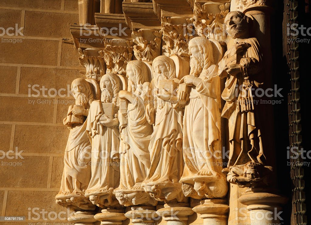 Portugal, Alentejo Region, Evora Cathedral. stock photo