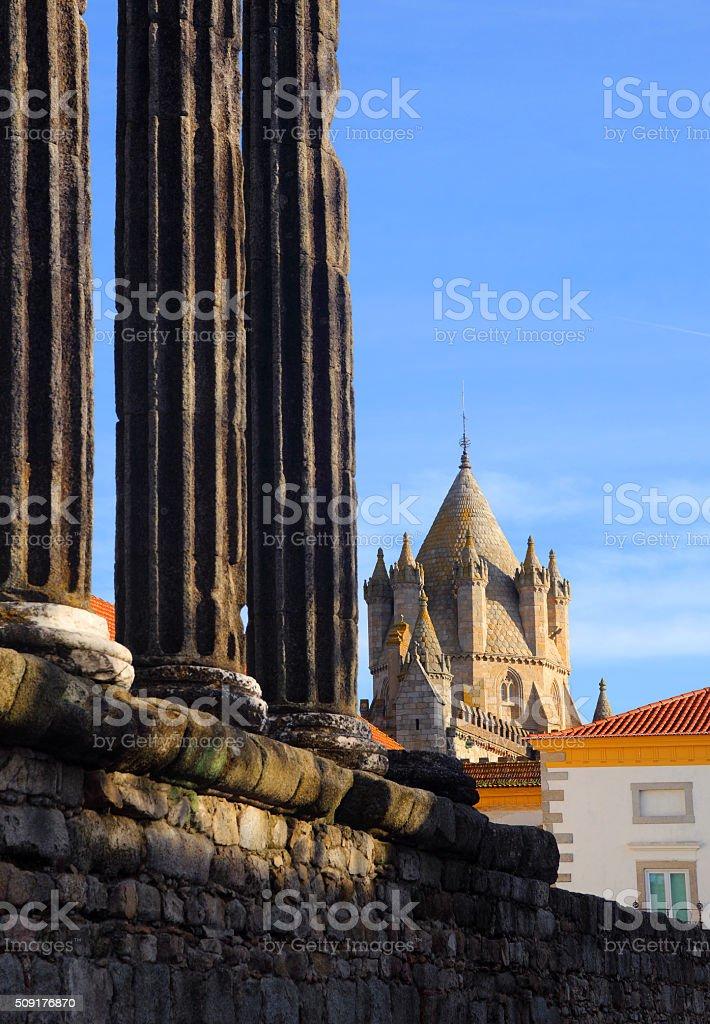 Portugal, Alentejo Region, Evora Historic centre. stock photo