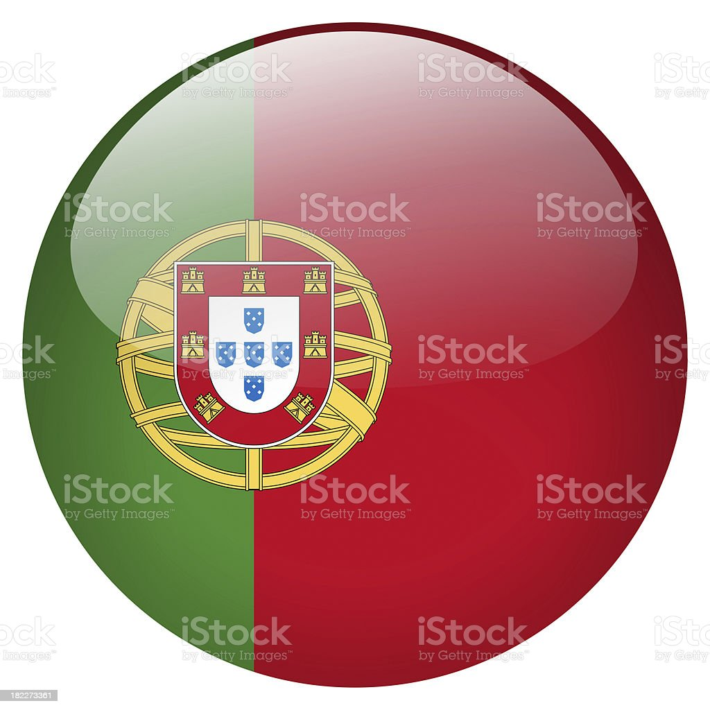 Portugal button stock photo