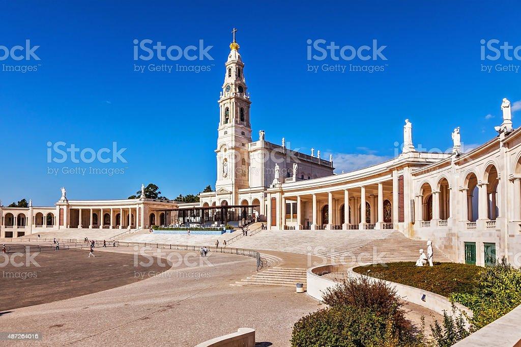 Portugal Catholic pilgrimage center stock photo