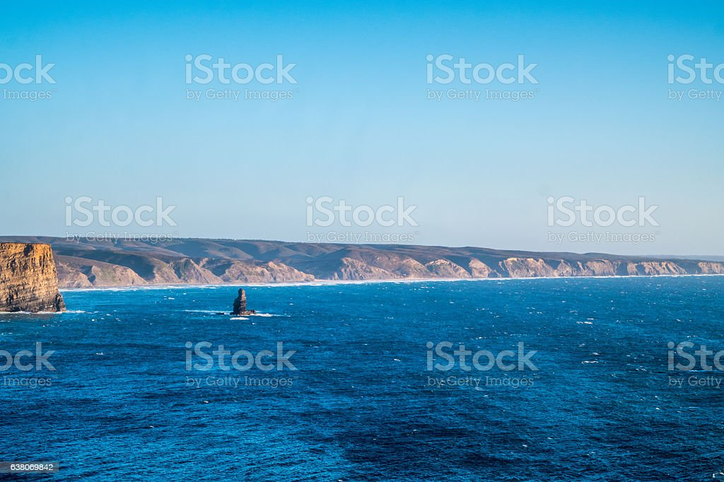 Portugal - Cliffs and ocean stock photo