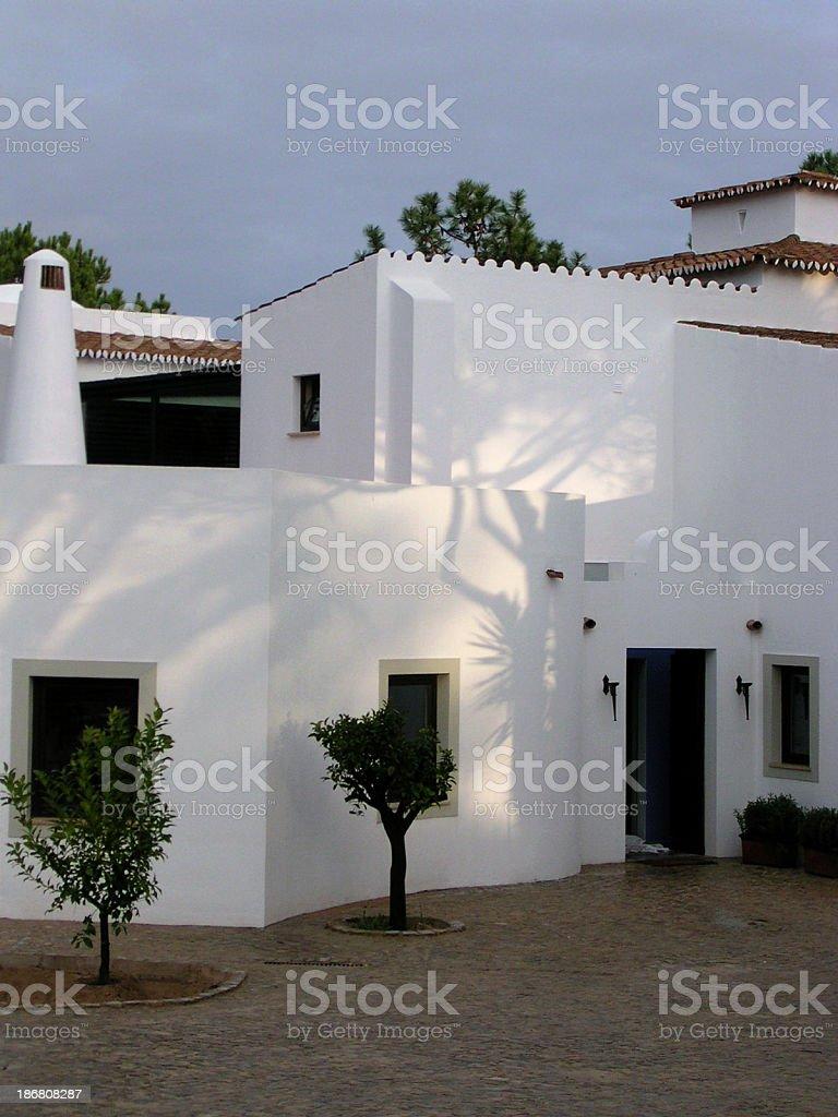 Portugal - Courtyard, Algarve, Evening royalty-free stock photo