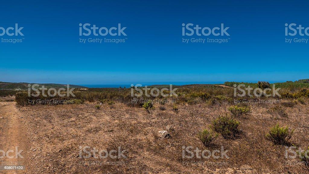 Portugal - Dry grasslands stock photo