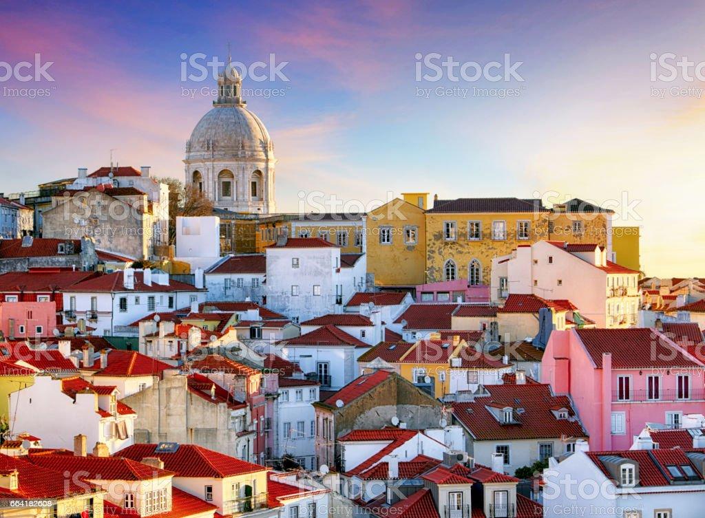 Portugal, Lisboa - Old city Alfama stock photo