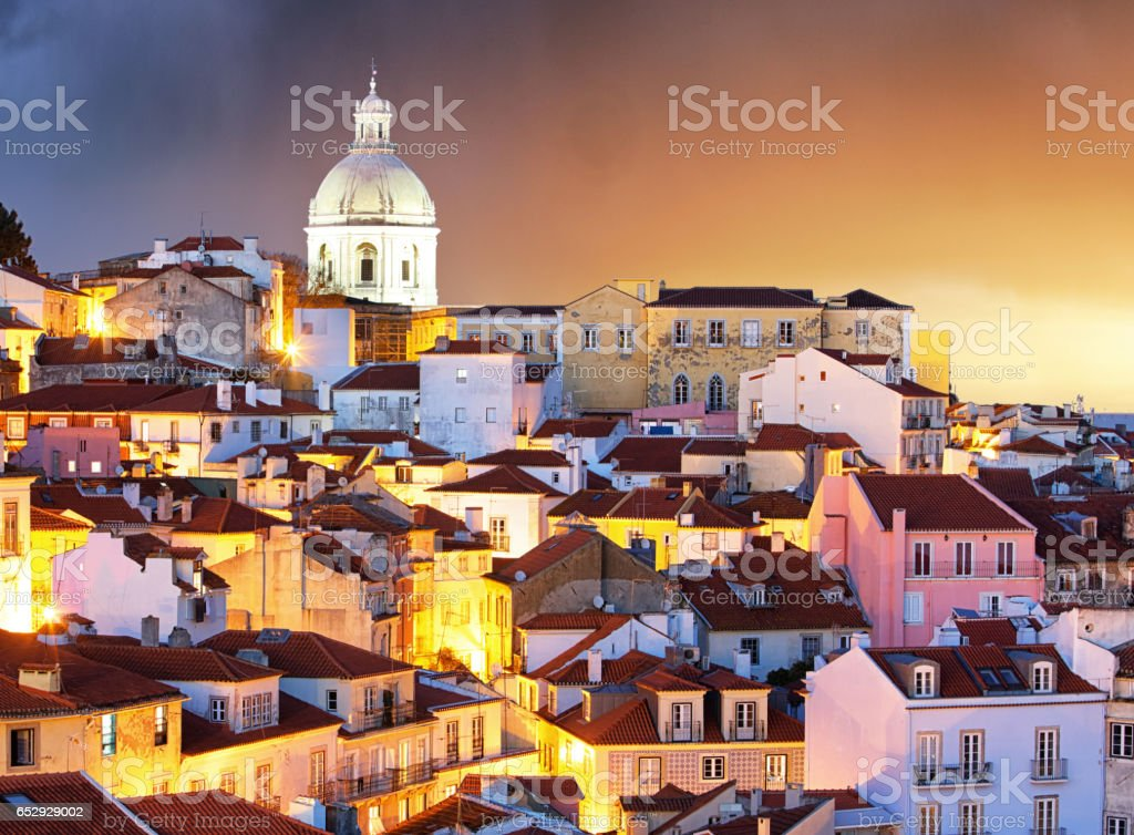 Portugal, Lisbon - Old city Alfama stock photo