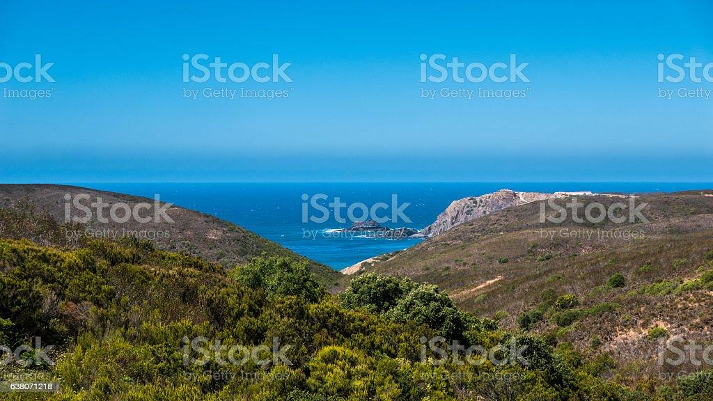 Portugal - Ocean and vegetation stock photo