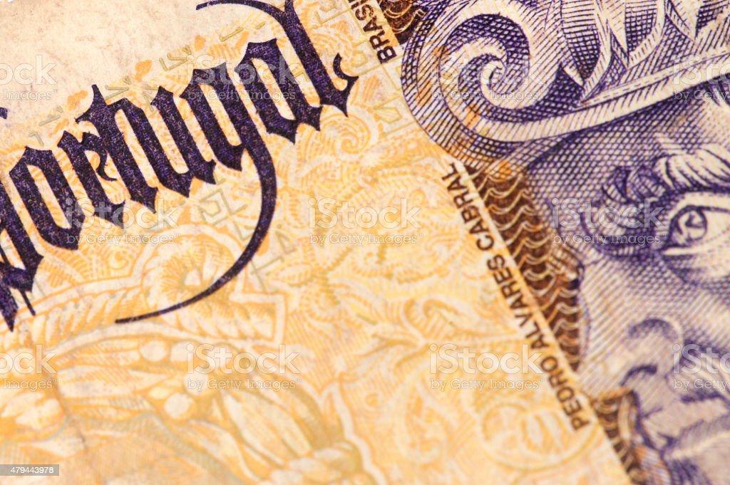 Portugal Paper Money stock photo