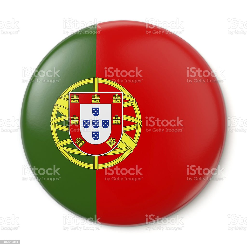 Portugal Pin-back stock photo