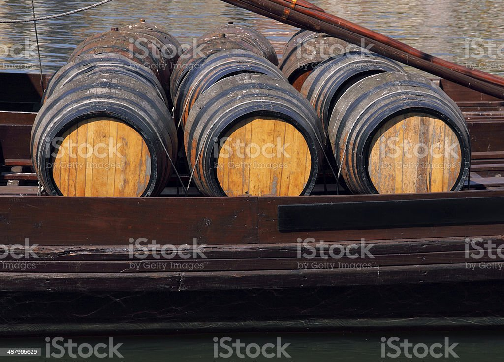 Portugal, Porto, Port wine barrels. stock photo