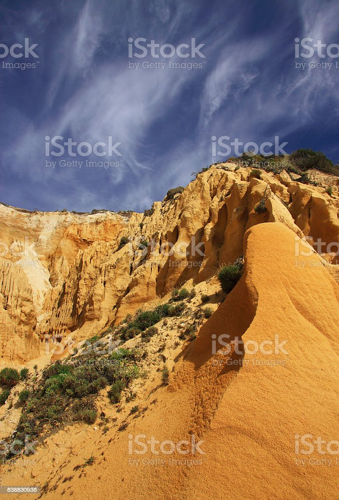 Portugal, Setubal District, Costa da Caparica near Lisbon. Natural Park. stock photo