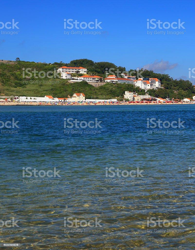 Portugal, Silver Coast, Lagoa de Obidos or Obidos Lagoon. stock photo