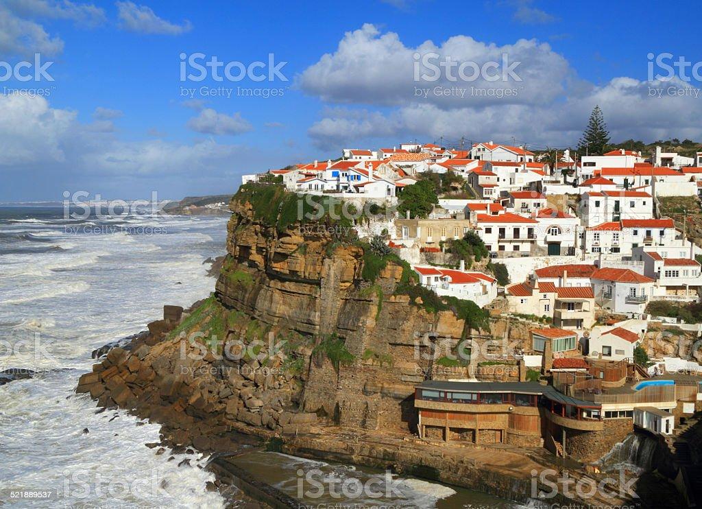 Portugal, Sintra, Azenhas do Mar village. stock photo