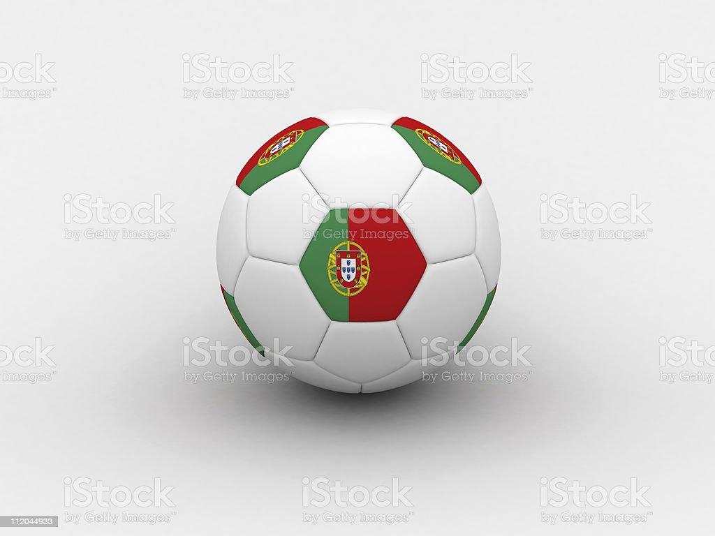 Portugal soccer ball royalty-free stock photo
