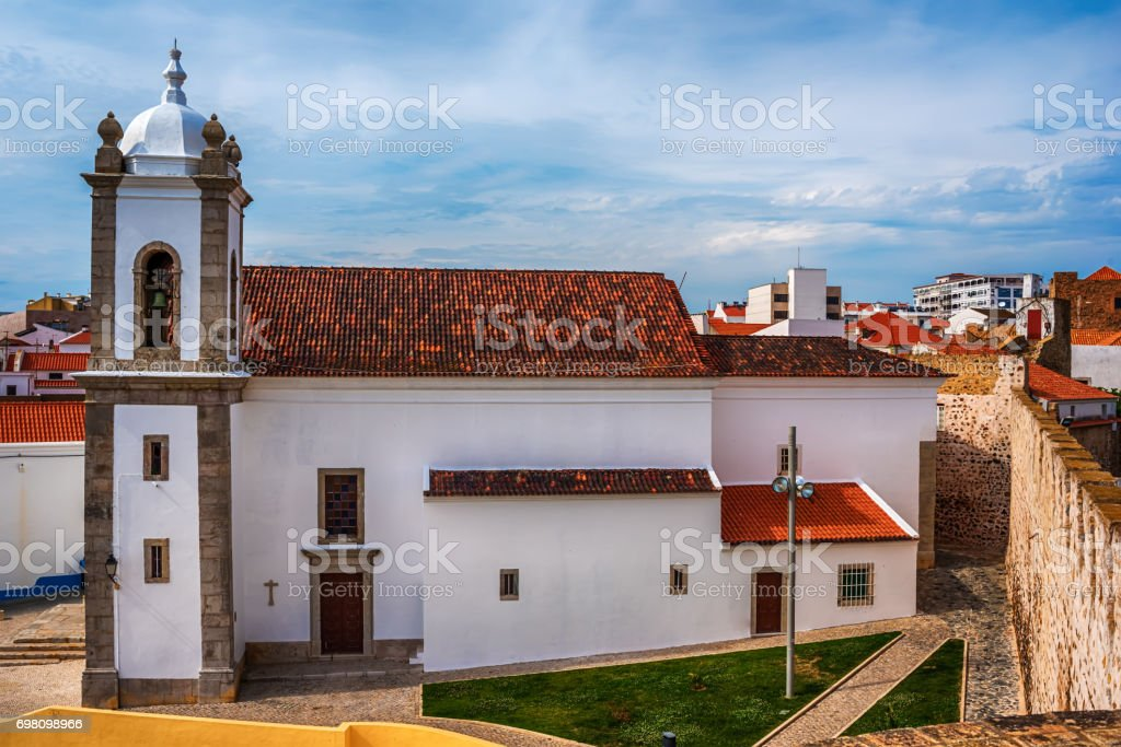 Portugal: the old town of Sines, a Portuguese city, located on Atlantic coast stock photo