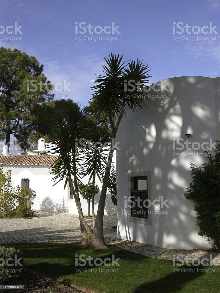 Portugal - Villa Courtyard royalty-free stock photo