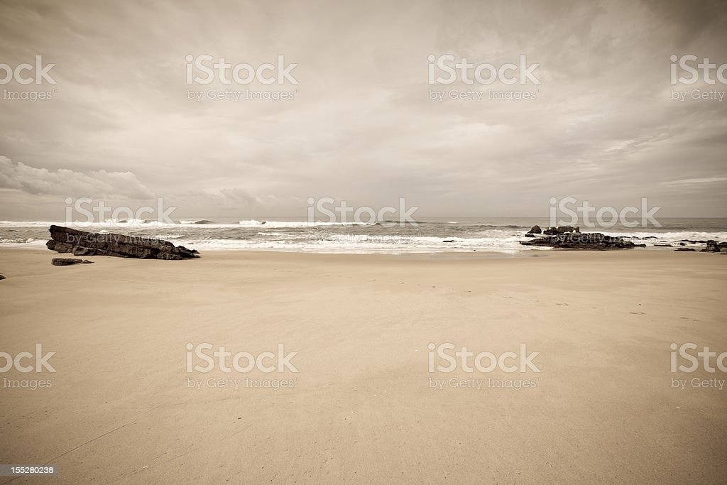 Portugese beach royalty-free stock photo