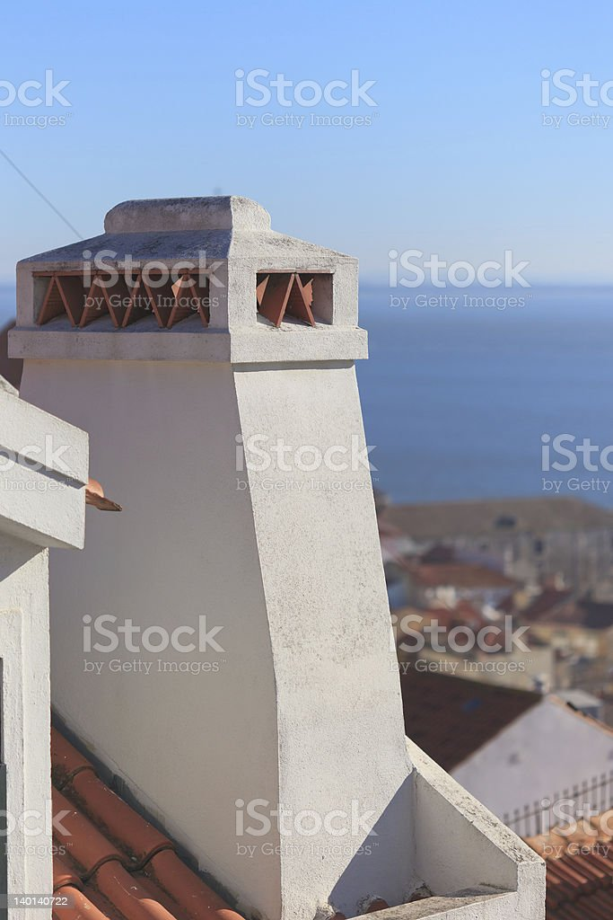portugese chimney stock photo