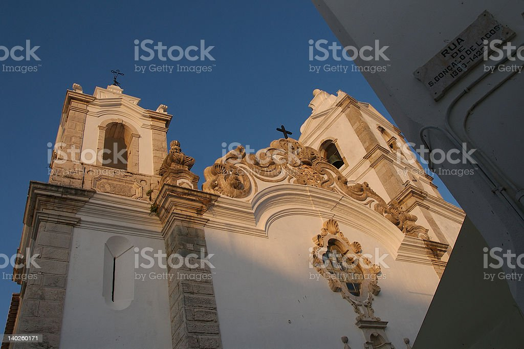 Portugese Church in Lagos stock photo