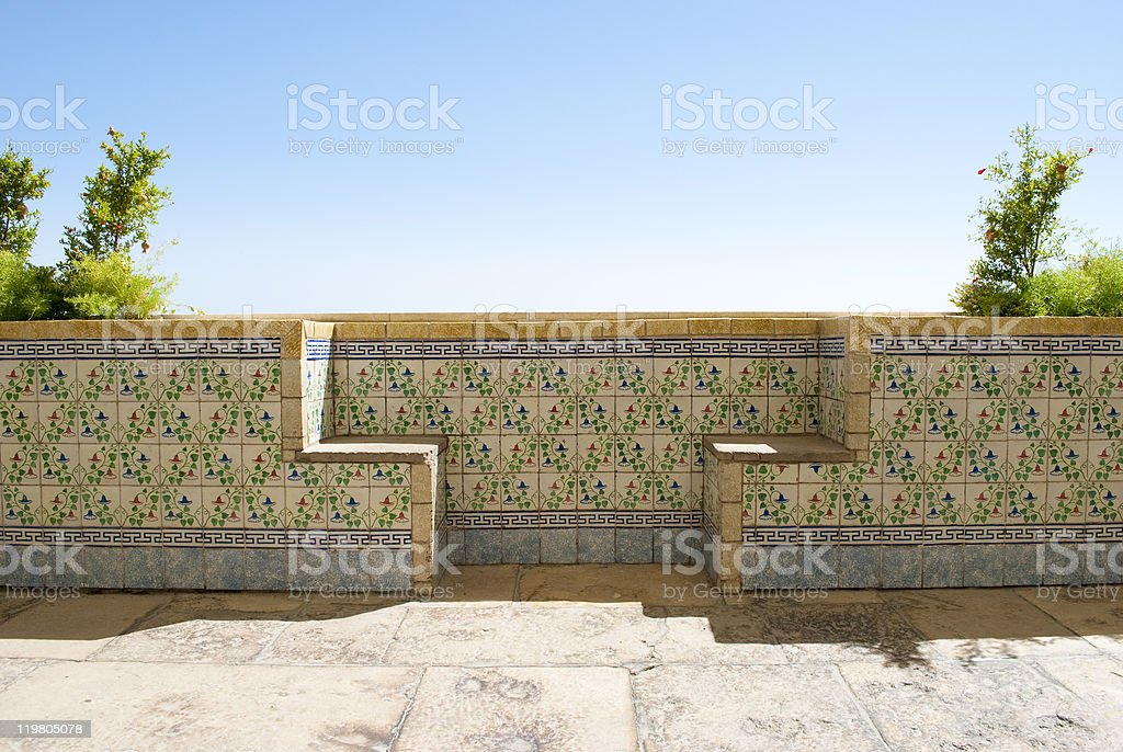 Portugese terrace royalty-free stock photo