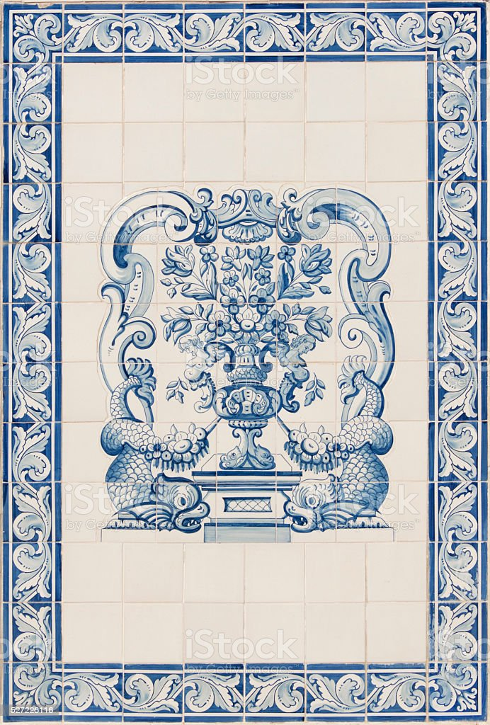 Portugese tiles stock photo