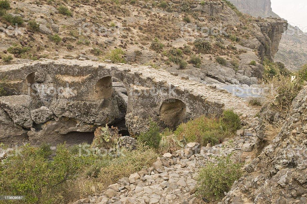 Portuguese bridge in Ethiopia royalty-free stock photo